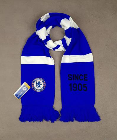Мужской футбольный шарф ФК Челси, Chelsea, синий, фото 2