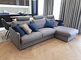 Раскладной угловой диван TOGO с ортопедическим матрасом шириной 160 см фабрика ALBERTA (Италия), фото 2