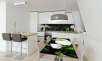 Наклейка 3Д виниловая на стол Zatarga «Белые Каллы» 600х1200 мм для домов, квартир, столов, кофейн,, фото 1
