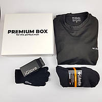 Акция! Термобелье Columbia + 4 пары термоносков + сенсорные перчатки iGlove Премиум бокс