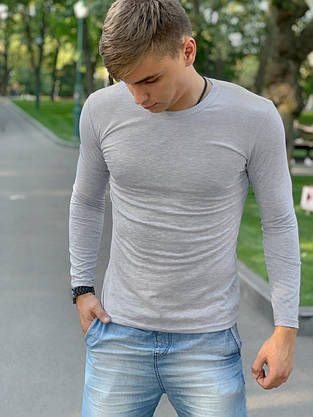 Лонгслив мужской Intruder Brand 'Pulse' серый, фото 2