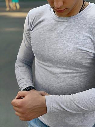 Лонгслив мужской Intruder Brand 'Pulse' серый, фото 3