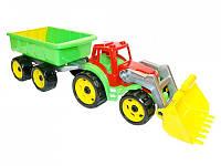 Игрушечный Трактор с ковшом и прицепом 3688 Технок