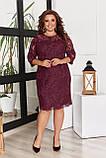 Жіноче літнє комбинироанное плаття 50-58р.(4расцв), фото 4