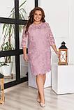 Жіноче літнє комбинироанное плаття 50-58р.(4расцв), фото 3