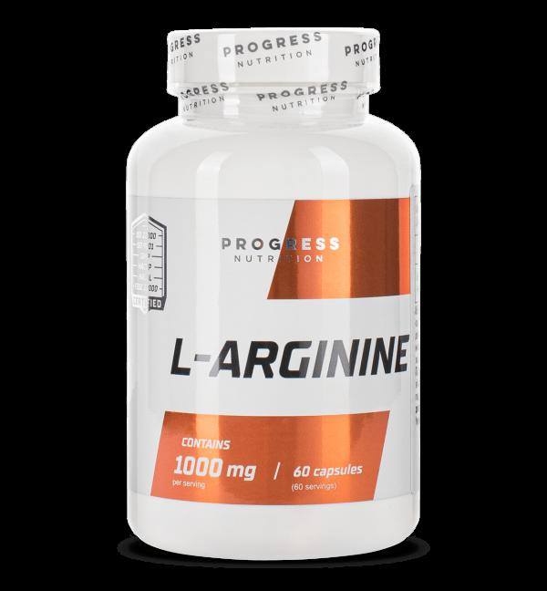 Аргинин Progress Nutrition L-Arginine 60caps.