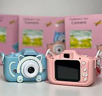 Детский фотоаппарат в чехле с экраном Smart Kids Camera, детская цифровая камера, игрушечный фотоаппарат