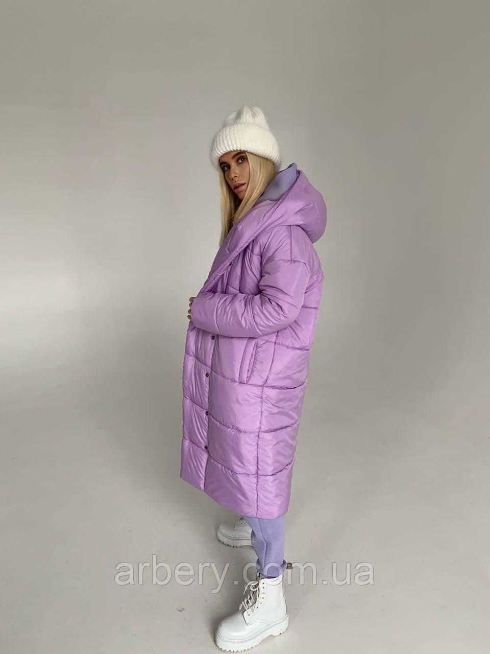 Женская зимняя куртка-пальто зефирка