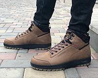 Зимние ботинки мужские Кожаные Belvas 19151 риж размеры 40,42,45, фото 1