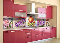 Скинали на кухню Zatarga «Акварельный Картины» 600х2500 мм виниловая 3Д наклейка кухонный фартук самоклеящаяся, фото 1