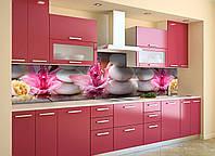 Скинали на кухню Zatarga «Круглые Камни» 600х2500 мм виниловая 3Д наклейка кухонный фартук самоклеящаяся