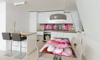 Наклейка 3Д виниловая на стол Zatarga «Круглые Камни» 600х1200 мм для домов, квартир, столов, кофейн,