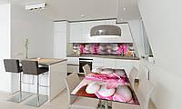 Наклейка 3Д виниловая на стол Zatarga «Круглые Камни» 650х1200 мм для домов, квартир, столов, кофейн,
