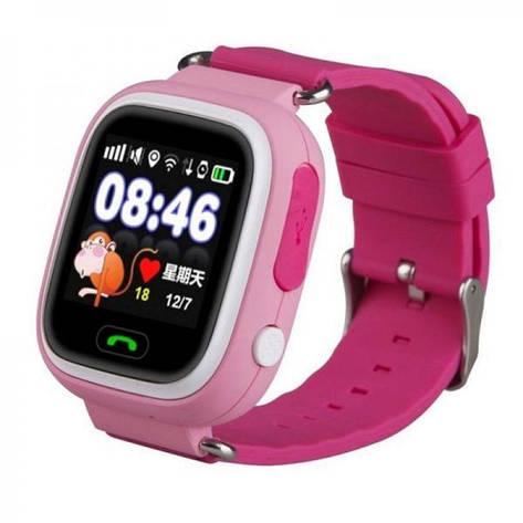Детские смарт часы Smart Watch Q90 с GPS трекером Розовый (i2091), фото 2