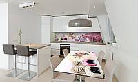 Наклейка 3Д виниловая на стол Zatarga «Розовые Сакуры» 600х1200 мм для домов, квартир, столов, кофейн,, фото 1