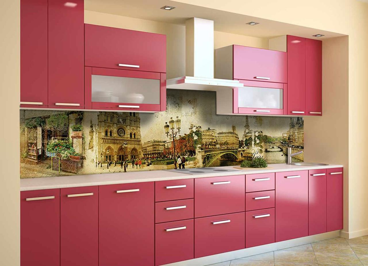 Скинали на кухню Zatarga «Почтовая Марка» 600х2500 мм виниловая 3Д наклейка кухонный фартук самоклеящаяся
