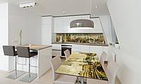 Наклейка 3Д виниловая на стол Zatarga «Почтовая Марка» 600х1200 мм для домов, квартир, столов, кофейн,, фото 1