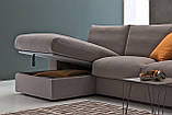Раскладной угловой диван TOGO с ортопедическим матрасом шириной 160 см фабрика ALBERTA (Италия), фото 5