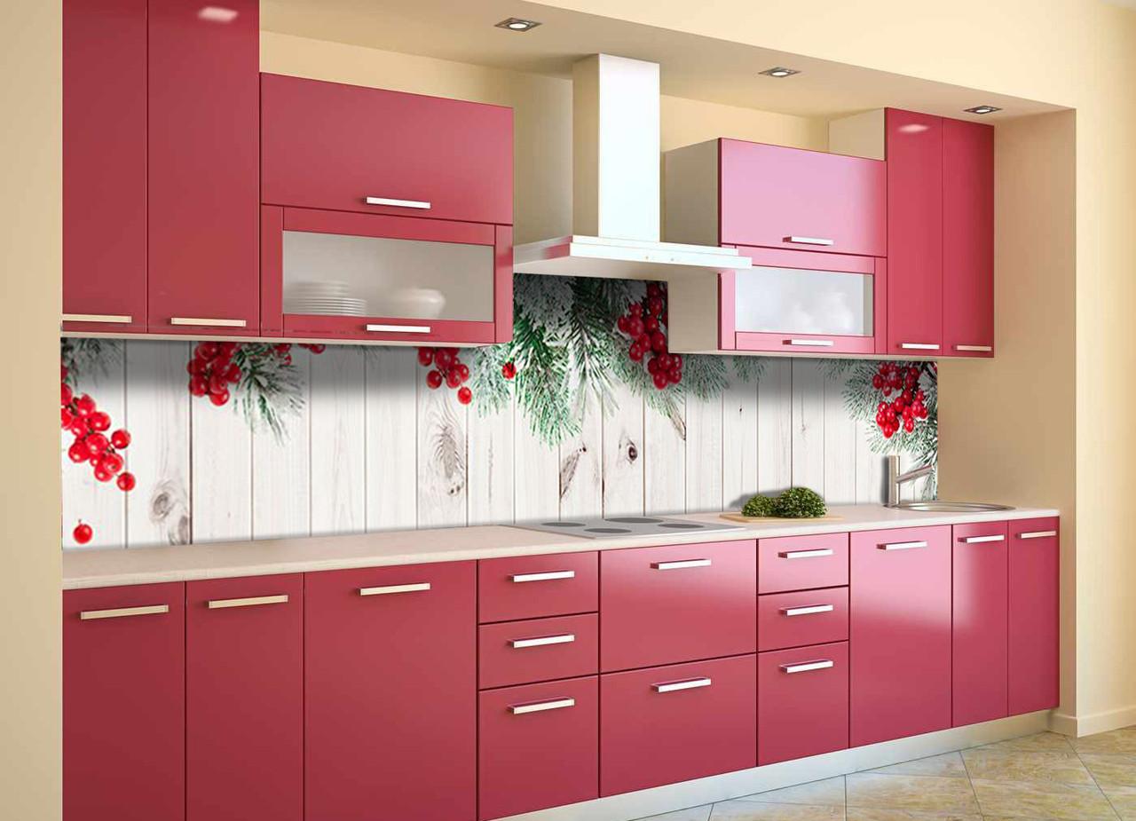 Скинали на кухню Zatarga «Новогодний колорит» 650х2500 мм ( новый год 2021, наклейки, виниловая 3Д наклейка