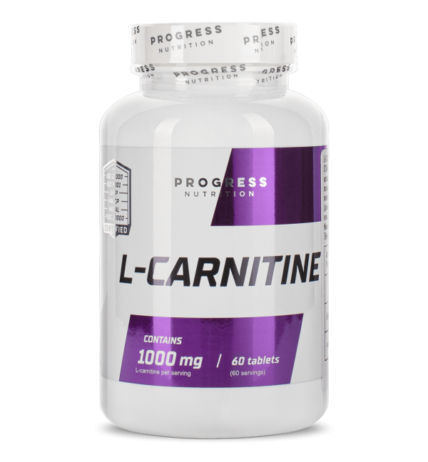 Л-Карнітин Progress Nutrition L-carnitine 1000 mg 60tabs.