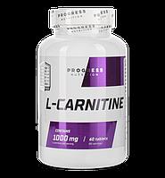 Л-Карнитин Progress Nutrition L-carnitine 1000 mg 60tabs.