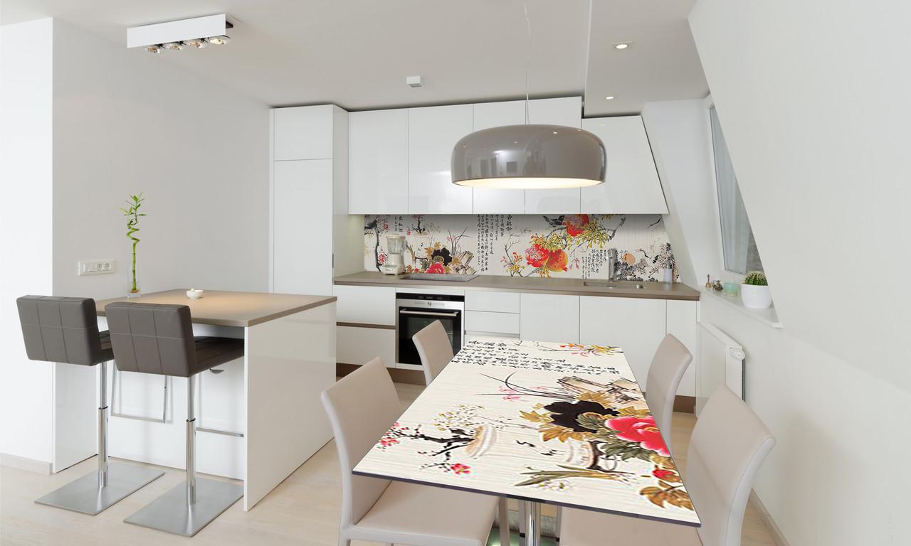Наклейка 3Д виниловая на стол Zatarga «Восточный Гранат» 600х1200 мм для домов, квартир, столов,