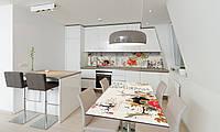 Наклейка 3Д виниловая на стол Zatarga «Восточный Гранат» 600х1200 мм для домов, квартир, столов, , фото 1