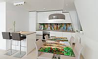 Наклейка 3Д виниловая на стол Zatarga «Каменные улицы» 600х1200 мм для домов, квартир, столов, кофейн,, фото 1