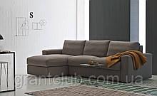 Раскладной угловой диван TOGO с ортопедическим матрасом шириной 160 см фабрика ALBERTA (Италия)