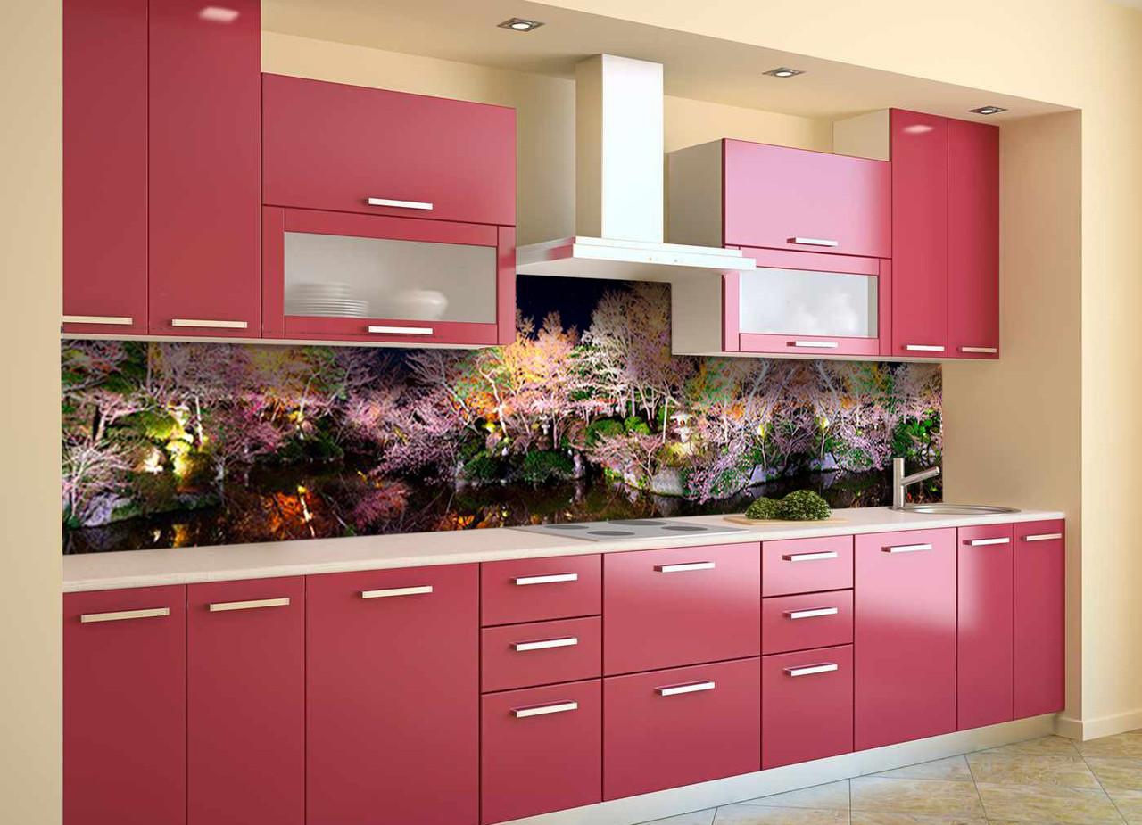 Скинали на кухню Zatarga «Радужный Лес» 600х2500 мм виниловая 3Д наклейка кухонный фартук самоклеящаяся