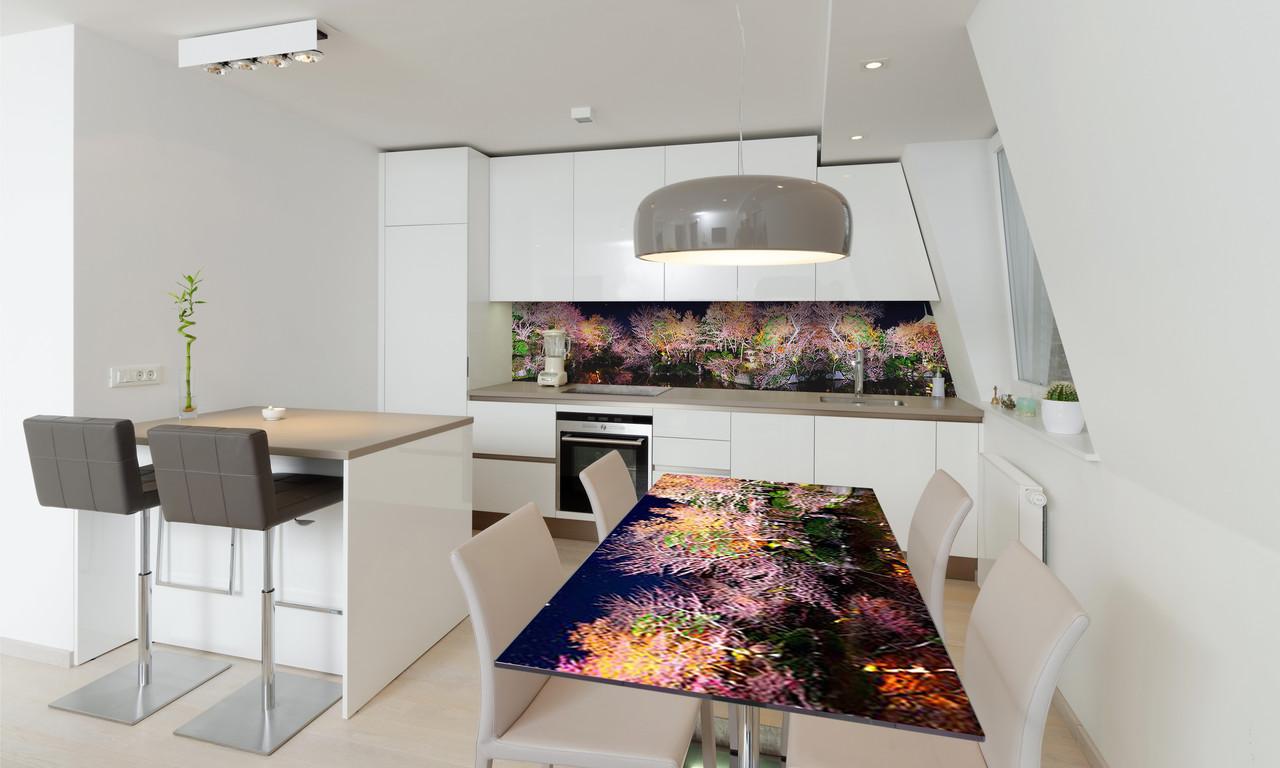 Наклейка 3Д виниловая на стол Zatarga «Радужный Лес» 600х1200 мм для домов, квартир, столов, кофейн,