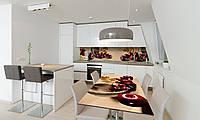 Наклейка 3Д виниловая на стол Zatarga «Спелые Яблоки» 650х1200 мм для домов, квартир, столов, кофейн,, фото 1