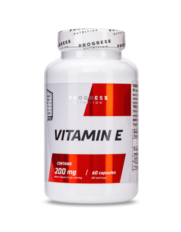 Вітамін Е Progress Nutrition Vitamin E 60caps.