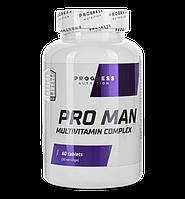 Витамины и минералы Progress Nutrition Pro Man 60tabs.