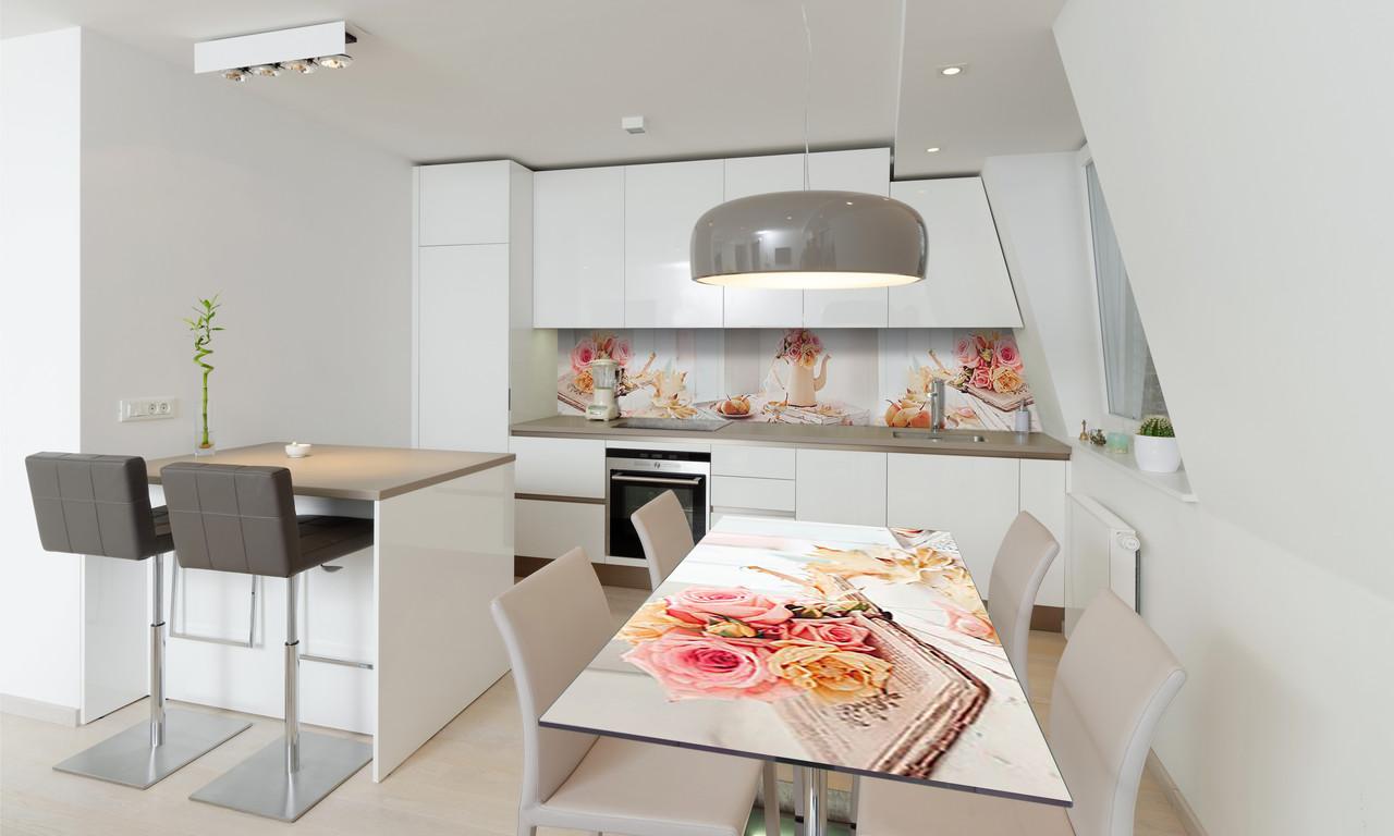 Наклейка 3Д виниловая на стол Zatarga «Осенние Груши» 600х1200 мм для домов, квартир, столов, кофейн,