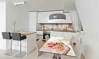 Наклейка 3Д виниловая на стол Zatarga «Осенние Груши» 600х1200 мм для домов, квартир, столов, кофейн,, фото 1
