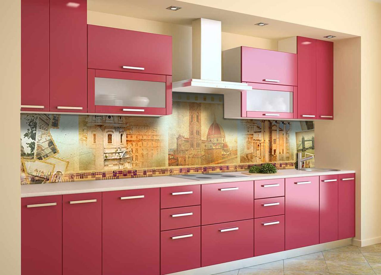 Скинали на кухню Zatarga «Старый Свет» 650х2500 мм виниловая 3Д наклейка кухонный фартук самоклеящаяся
