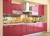Скинали на кухню Zatarga «Старый Свет» 650х2500 мм виниловая 3Д наклейка кухонный фартук самоклеящаяся, фото 1