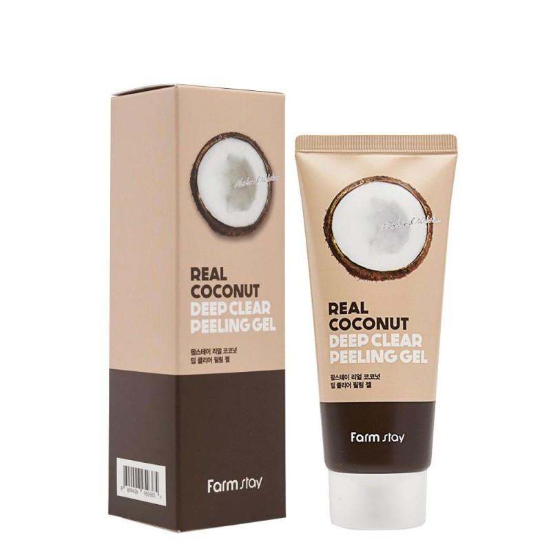 Пилинг-гель с экстактом кокоса Farmstay Real Coconut Deep Clear Peeling Gel, 100 ml