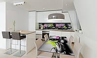 Наклейка 3Д виниловая на стол Zatarga «Черные камни» 600х1200 мм для домов, квартир, столов, кофейн,, фото 1