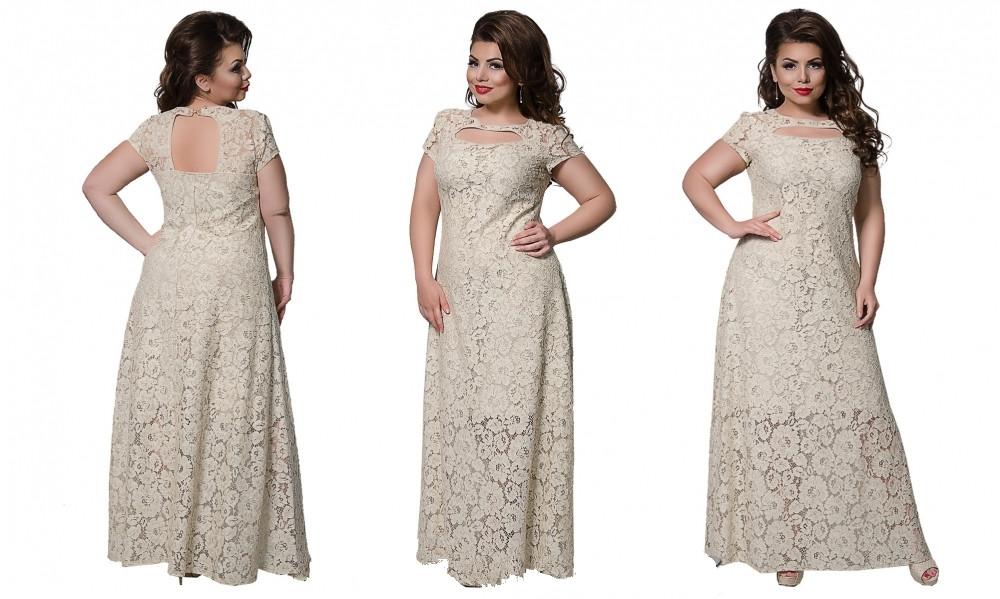 Платье №224 (беж) Размеры 52,54