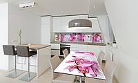 Наклейка 3Д виниловая на стол Zatarga «Орхидея Сакраменто» 650х1200 мм для домов, квартир, столов, , фото 1