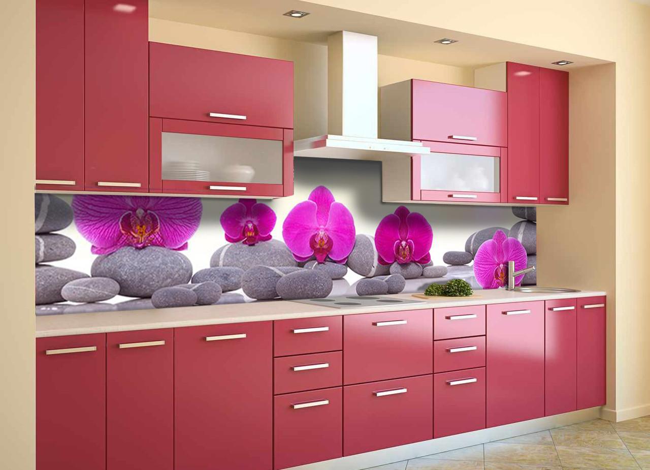 Скинали на кухню Zatarga «Пирамида из Камней» 600х2500 мм виниловая 3Д наклейка кухонный фартук самоклеящаяся