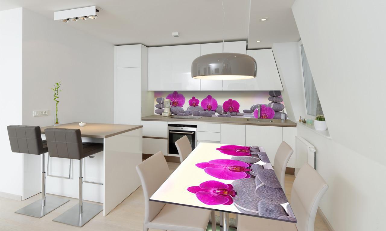Наклейка 3Д виниловая на стол Zatarga «Пирамида из Камней» 650х1200 мм для домов, квартир, столов,