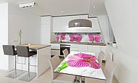 Наклейка 3Д виниловая на стол Zatarga «Деликатные Орхидеи» 650х1200 мм для домов, квартир, столов, , фото 1