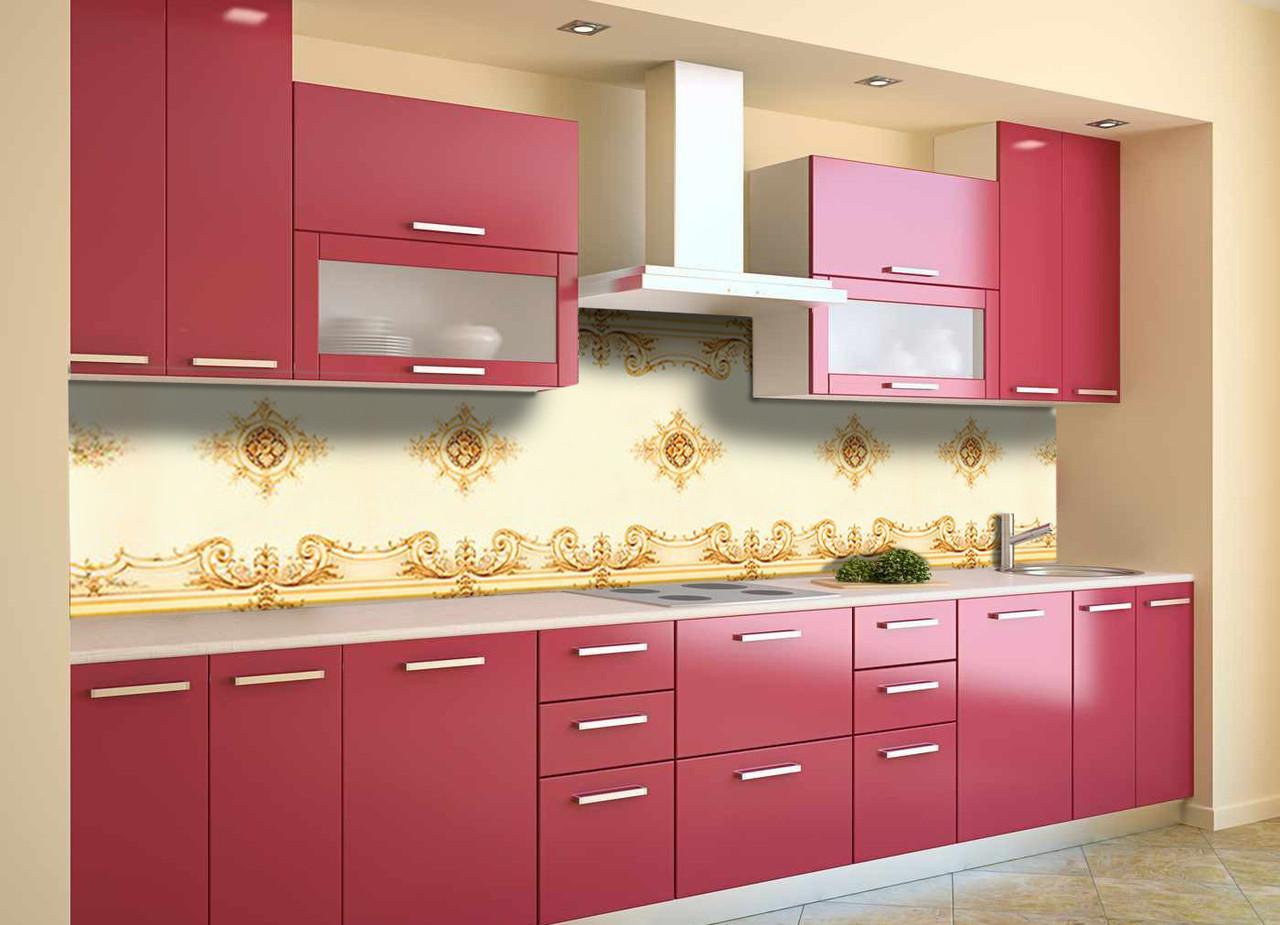 Скинали на кухню Zatarga «Турецкий шарм» 650х2500 мм виниловая 3Д наклейка кухонный фартук самоклеящаяся