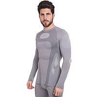Термобілизна чоловіча футболка з довгим рукавом (лонгслів) HELMIN  розмір XL сіра, фото 1