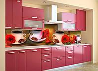 Скинали на кухню Zatarga «Страстный Париж» 650х2500 мм виниловая 3Д наклейка кухонный фартук самоклеящаяся, фото 1