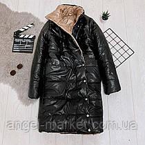 Зимова жіноча куртка-пальто норма і батал синтепон 300 новинка 2020