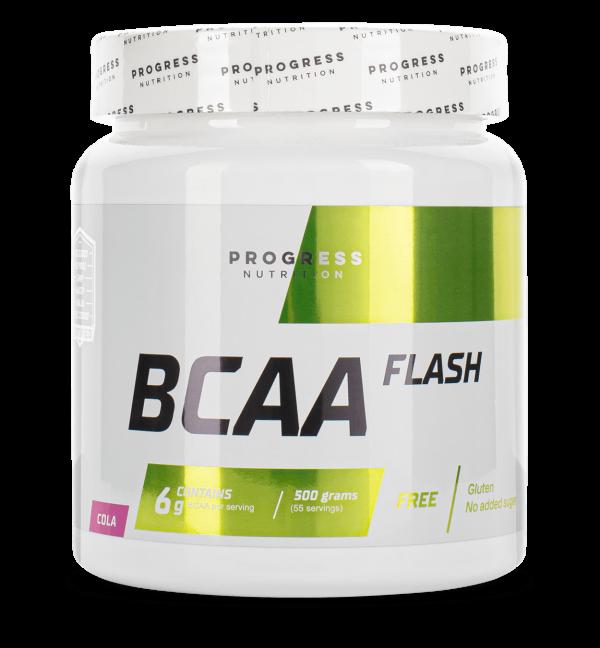 Аминоксилотами Progress Nutrition BCAA Flash 500g ЛИМОНОВЫЙ ЧАЙ